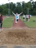 Luke Crosbie Year 9 mid flight in the long jump