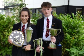 Russell House Captain's Zara King and Aaron McGuigan