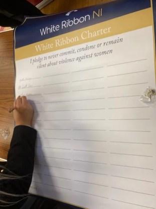 White Ribbon Charter signing
