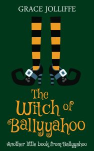 book cover of the witch of Ballyyahoo in a page about the Irish Words and Slang Used In Ballyyahoo
