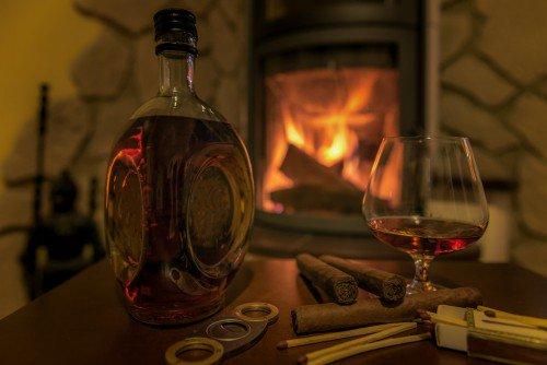 de-stressor bourbon and cigars