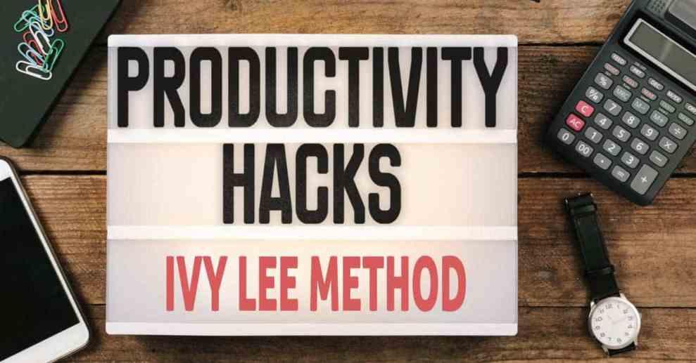 ivy lee method