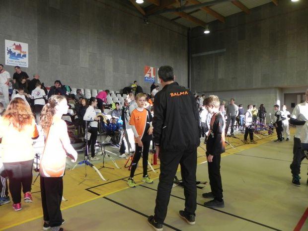 Balma Arc Club - Championnat de ligue jeunes Carcassonne - Echauffement