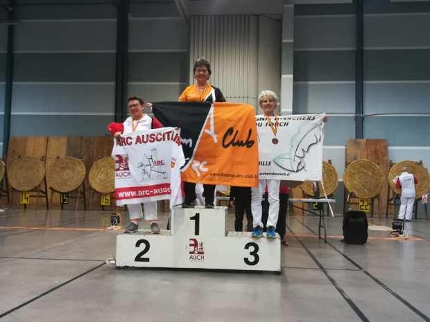 Balma Arc Club - Championnat régional salle - Auch - podium S3 poulies