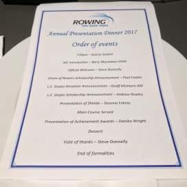 The Program for the Presentation Dinner