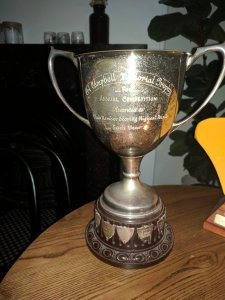 The Col Campbell Memorial Trophy for the Club Point Score, won by Kevin Wall