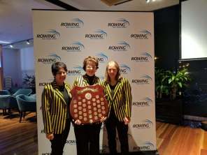 Barbara, Ruby and Anne at the Presentation Dinner with the Para Shield