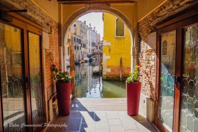 Venice archway to canals