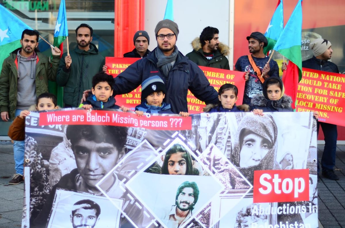 Baloch Republican Party protests in London, Germany, demanded safe release of missing activists