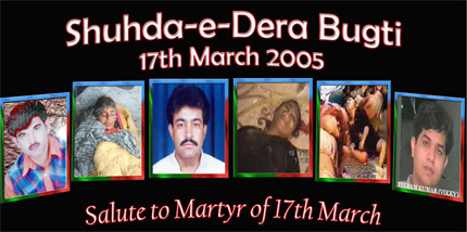 Remembering the victims of 17 March 2005 massacre in Dera Bugti, Balochistan