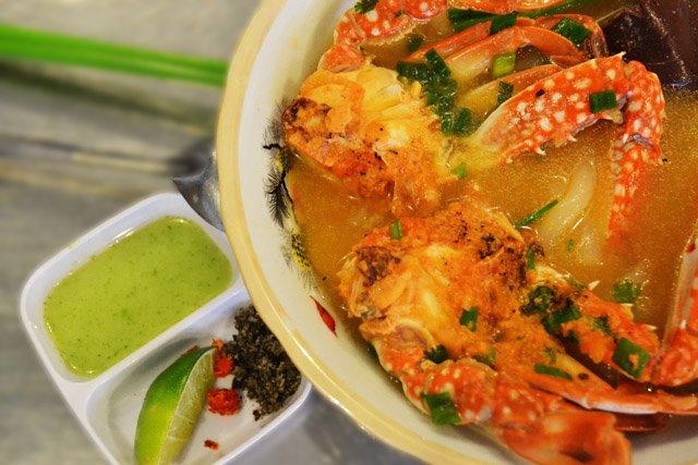 Bánh canh ghẹ muối tiêu xanh Phú Quốc