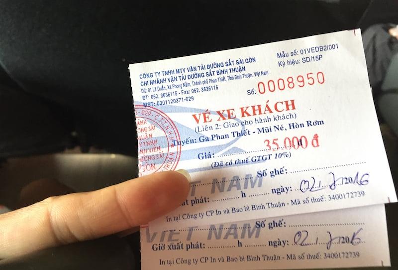 Vé xe khách từ ga Phan Thiết đi Mũi Né - Hòn Rơm