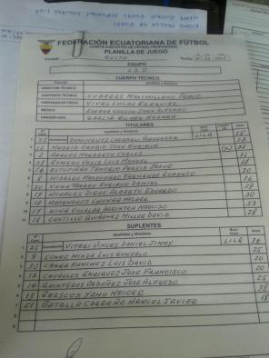 Alineación LDU Quito vs El Nacional fecha 1