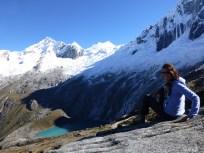 Belinda atop the pass