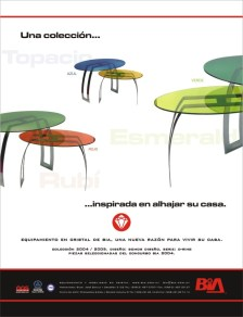 Ring_O_3rd prize in the Bia Glass Factory (Uruguay) Contest of glass furniture design for the home and office 2005