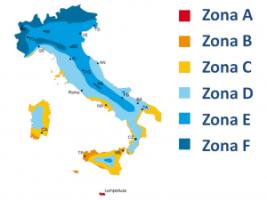 Zone climatiche in Italia