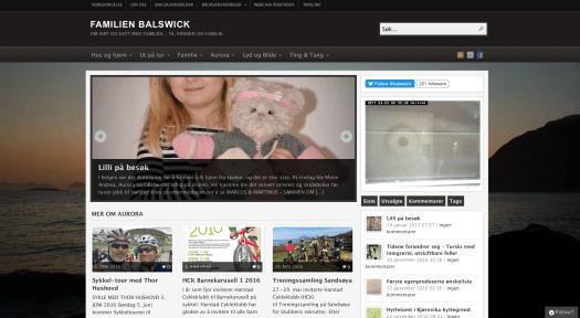 familien Balswick blogg
