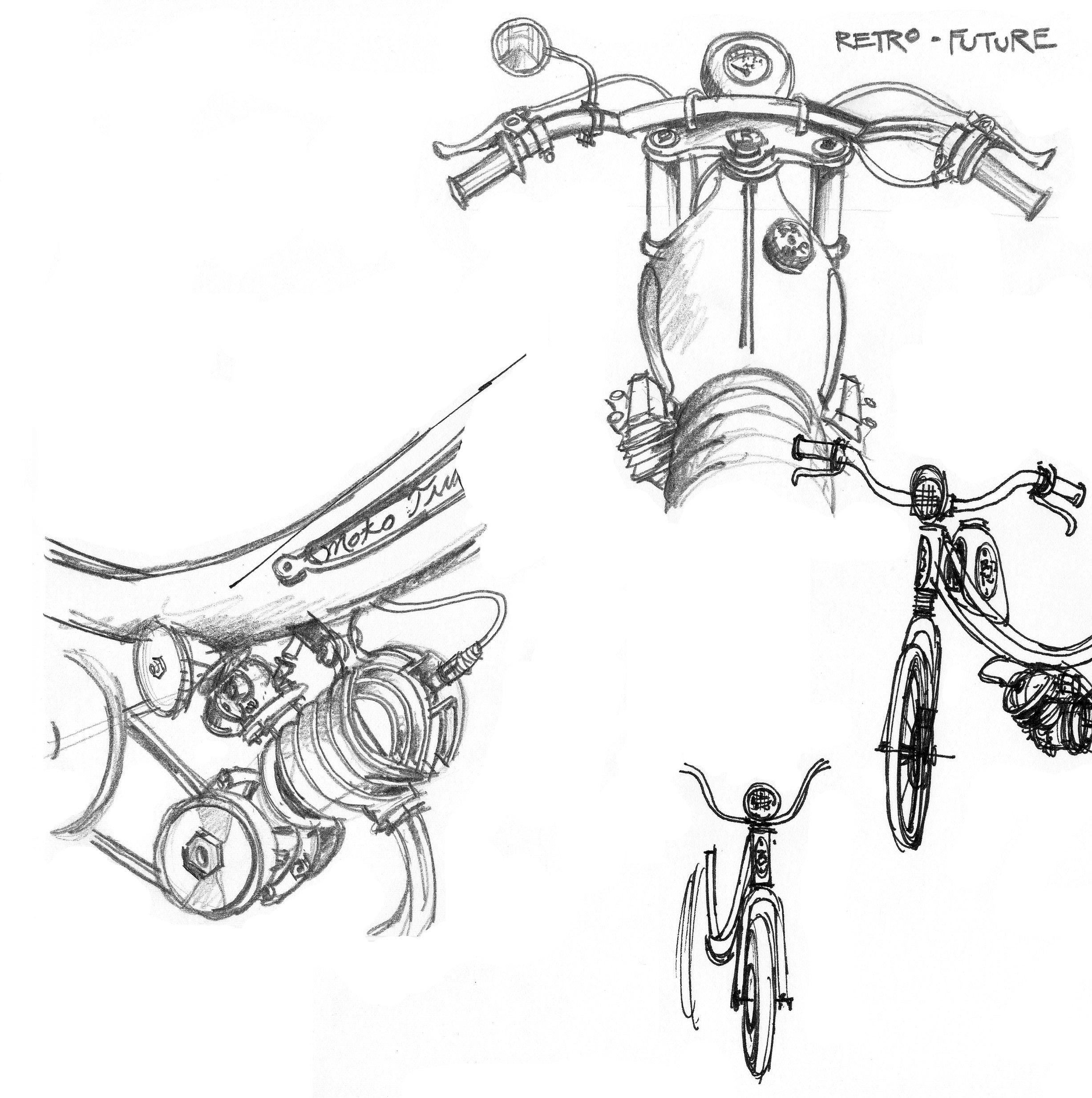 More Moped Sketches Retro Future