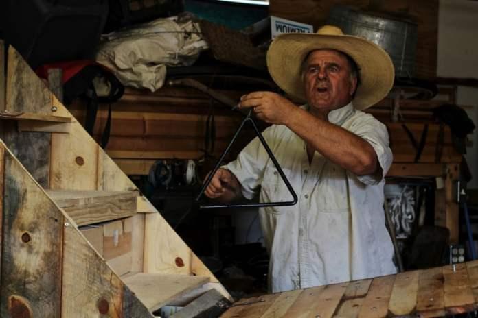 Marlene in his home workshop. © Bibbi Abruzzini.