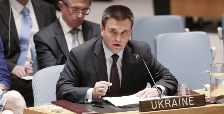 Pavlo Klimkin, Minister of Foreign Affairs of Ukraine, addressing the UN Security Council. UN Photo/Evan Schneider