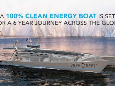 Boat Powered By 100% Clean Energy Set For A 6 Year Journey Across The Globe