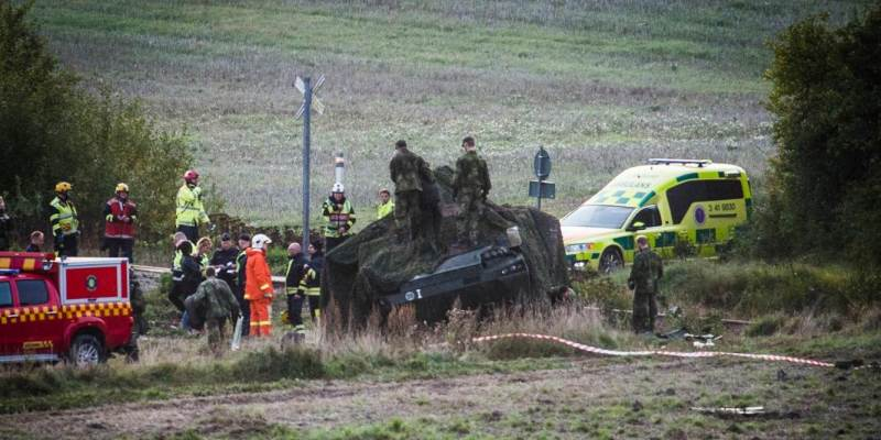 Train collides with NATO tank south of Stockholm