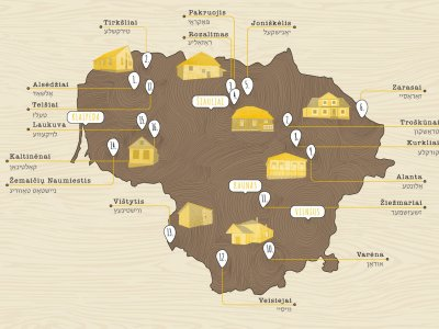 Lithuania: Synagogue Route Map