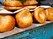 Savouring the smell of delicious fresh bread in Uzbekistan