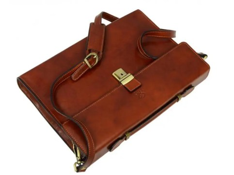 Image result for Amber Leather Laptop Briefcase With Shoulder Strap