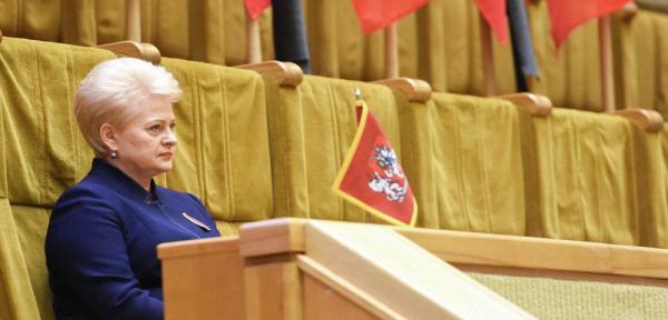 Д. Грибаускайте: президент выдержал первый год