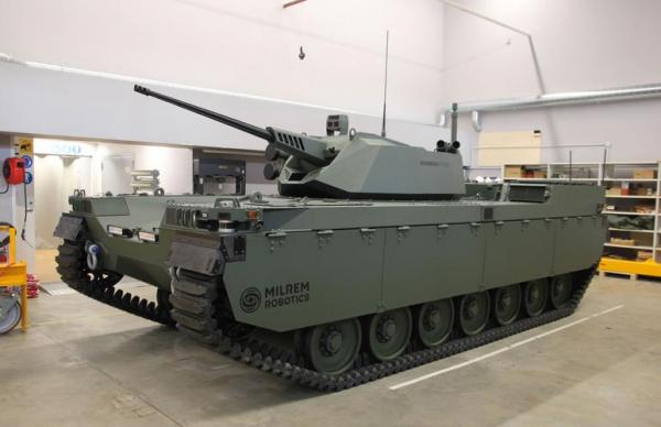 Эстонская компания представила бронетранспортер-беспилотник