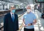 Собянин открыл станцию Славянский бульвар на МЦД-1