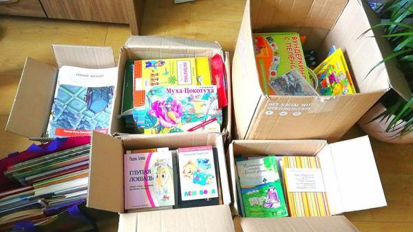 Русским клубам и школам Великобритании передали русскоязычные книги