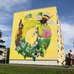 Суперграфика в виде буквы Õ украсит фасад ещё одного дома в Таллине