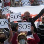Воскресные митинги белорусской оппозиции прошли по-летнему жарко