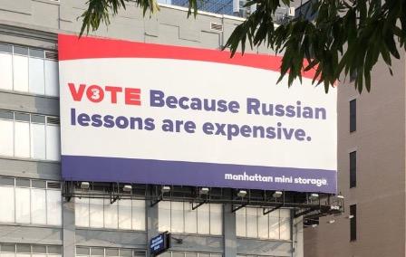 В Штатах соотечественники осудили русофобскую рекламу в Нью-Йорке