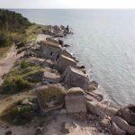 В Лиепае море пожирает следы Российской империи (ВИДЕО)