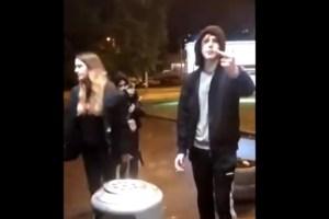 Скандал у магазина в Риге: подростки и охранник устроили разборку