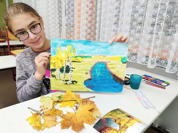 Пейзаж в стиле Левитана изобразили дети в Нюрнберге