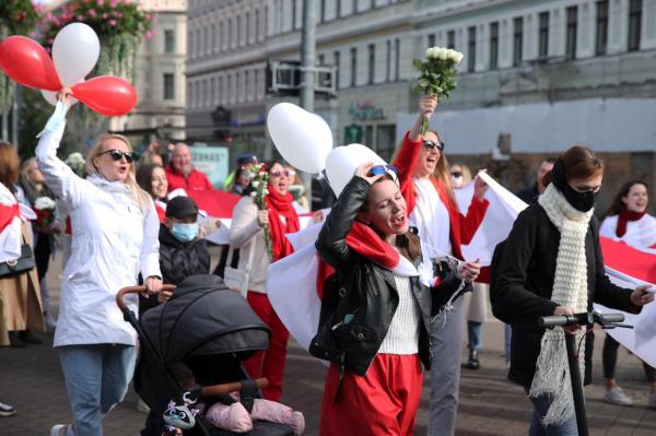 В Риге прошло «антилукашенковское» шествие (ФОТО)