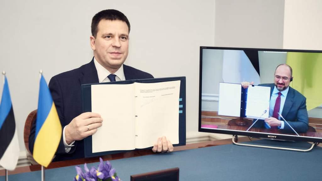 Эстония и Украина подписали упрощающий сотрудничество договор