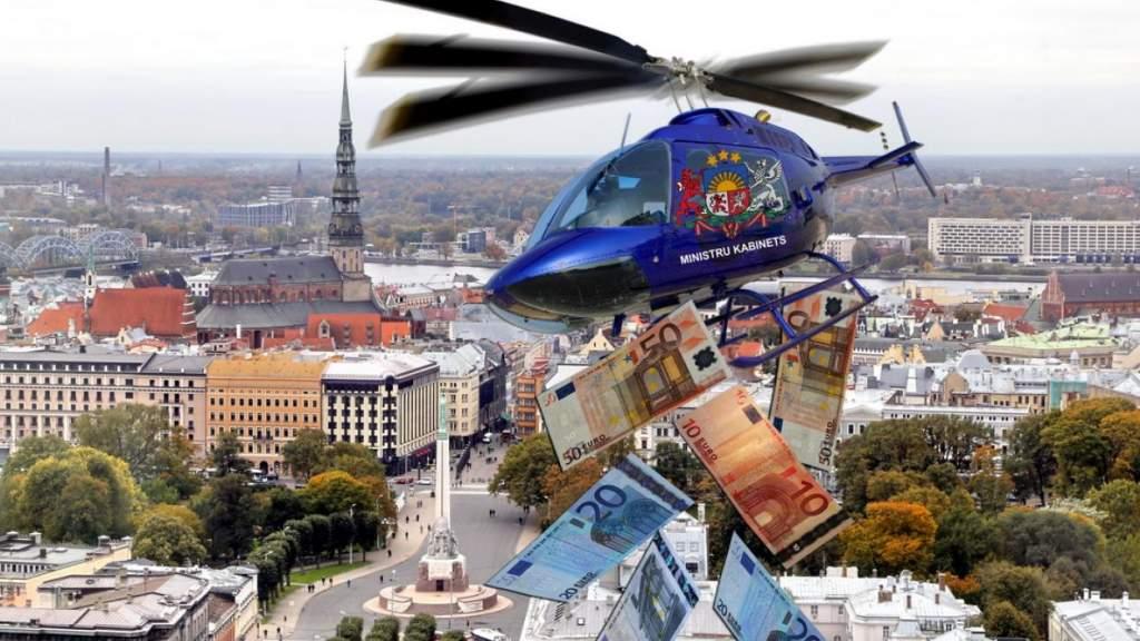 Прилетит вдруг волшебник? В Латвии с нетерпением ждут «вертолетных денег»