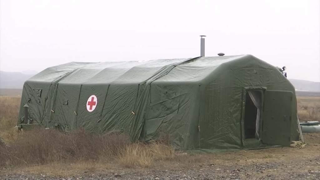 Российские военные развернули полевой госпиталь в Степанакерте