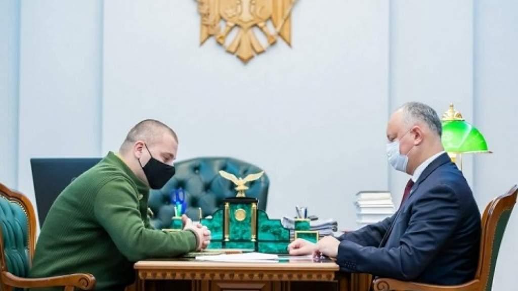 Игорь Додон встретился с главой комитета «Победа», председателем КСРС Алексеем Петровичем