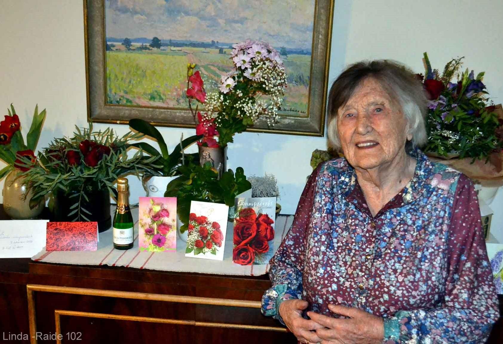 Одной из старейших жительниц Ласнамяэ исполнилось 102 года
