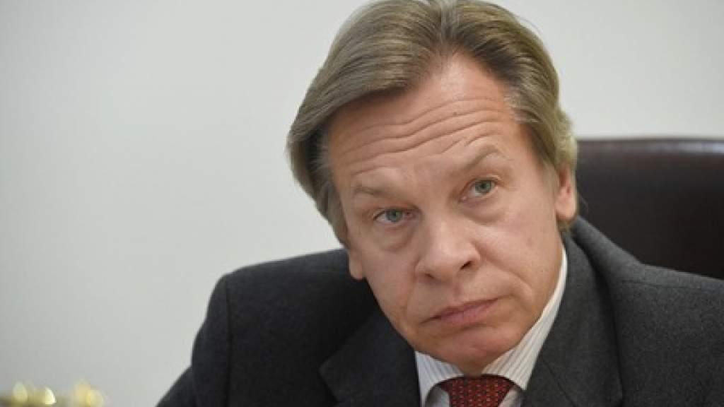 Пушков отреагировал на высказывание Кулебы об украинском флаге в Крыму