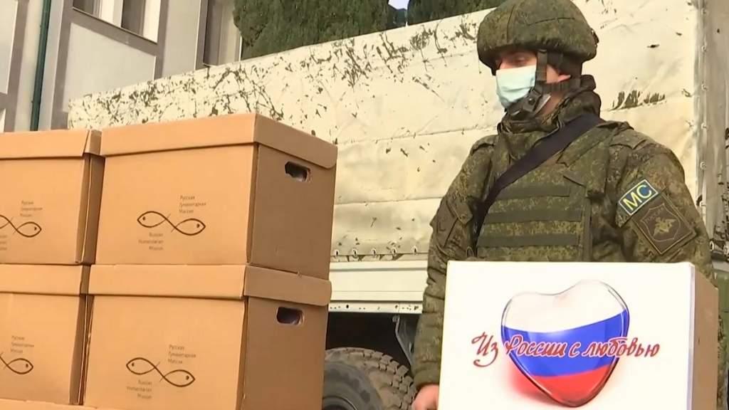 Россия отправила в Нагорный Карабах 54 вагона с гуманитарной помощью