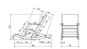 Кресло-качалка: чертежи и размеры, легкие варианты конструкции