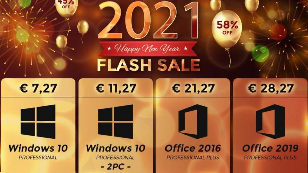 Лучшее новогоднее предложение ПО: Windows 10 Pro 7.27€