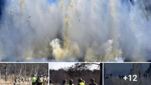Фиаско? Латвийские военные хотели взорвать лед, но взорвали воду (+ВИДЕО)